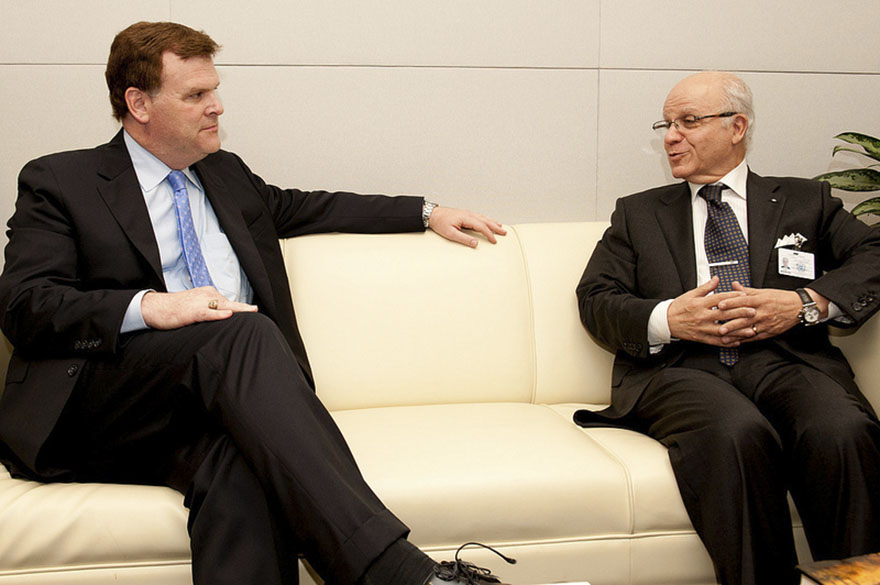 Minister Baird meets with Mourad Medelci, Minister of Foreign Affairs of Algeria