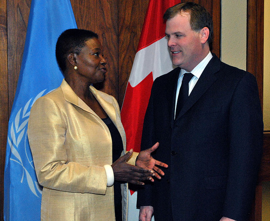 Minister Baird welcomes UN's Valerie Amos