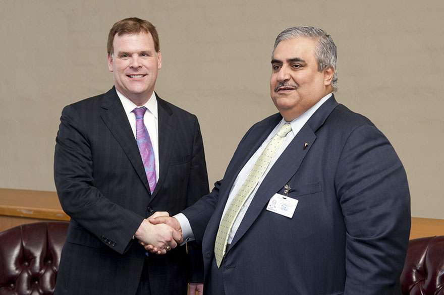 Baird and Sheikh Khalid Bin Ahmed, Minister of Foreign Affairs of Bahrain