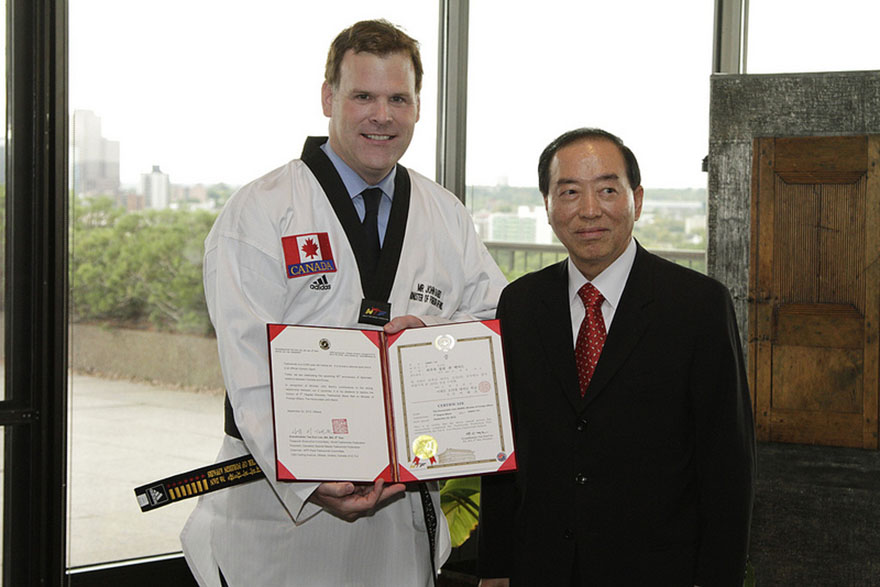 Baird Receives Honourary 7th Degree Black Belt in Taekwondo