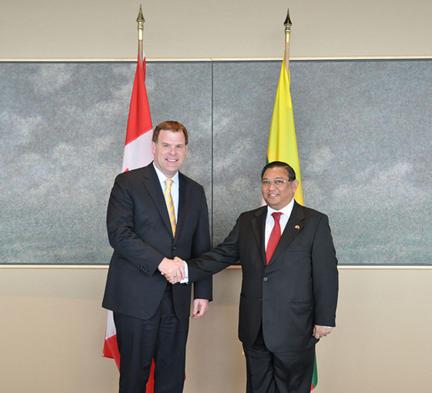 Baird Welcomes Burmese Counterpart