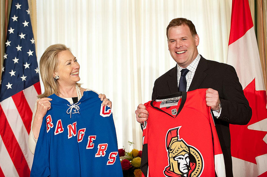 Baird and Clinton Make Friendly Hockey Playoff Wager