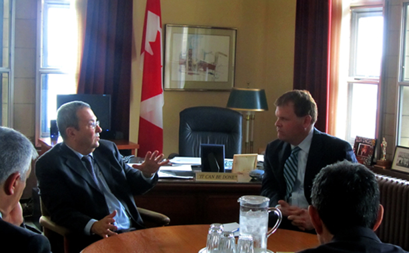 Minister Baird meets with Israeli Minister of Defence and Deputy Prime Minister Edud Barak