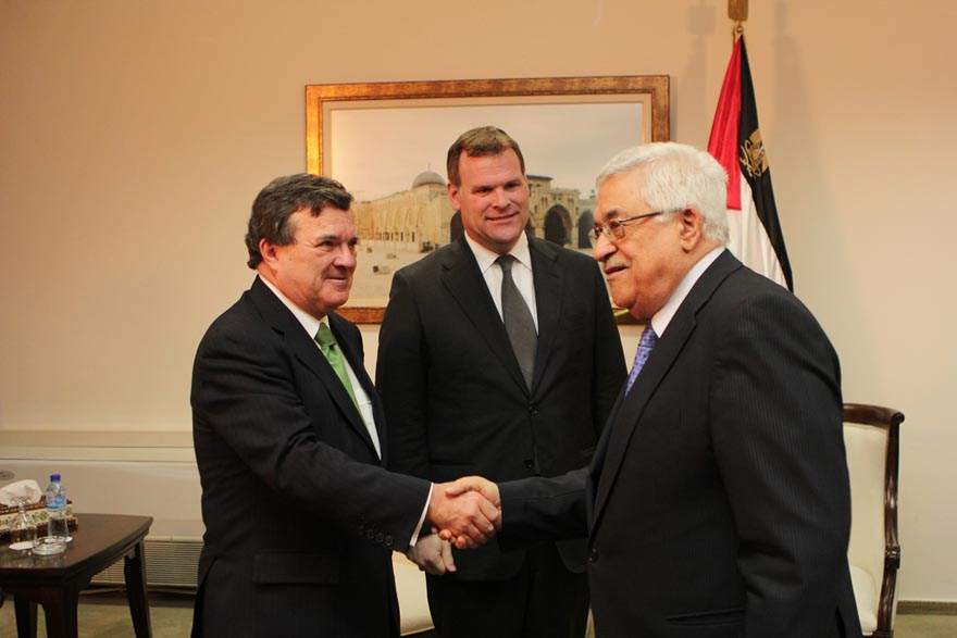 Ministers Baird and Flaherty Meet with Palestinian Authority President Mahmoud Abbas