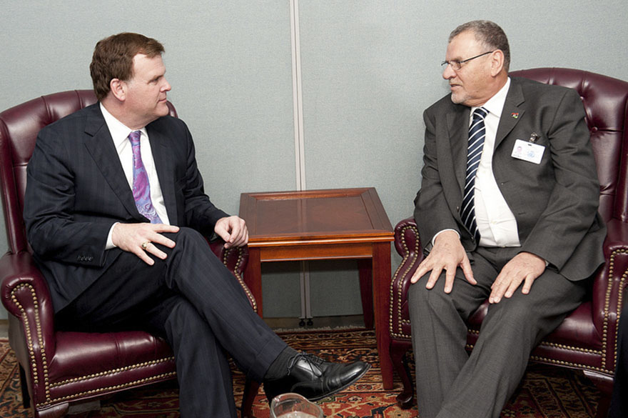 Baird also met with Ashour Bin Khayal, Minister of Foreign Affairs of Libya
