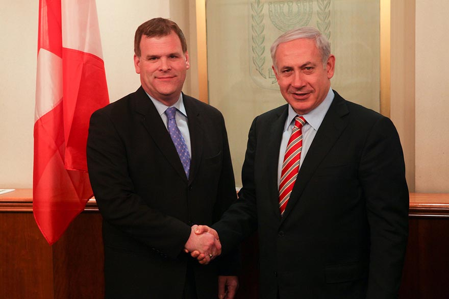 Foreign Affairs Minister Baird Meets with Israel's Prime Minister Benjamin Netanyahu