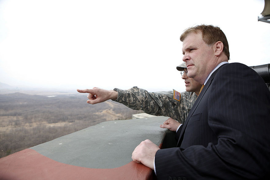 Baird visits the Demilitarized Zone between North and South Korea