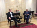 April 6, 2013 - Ramallah - Foreign Affairs Minister John Baird meets with Salam Fayyad, Prime Minister of the Palestinian Authority.