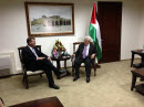 April 6, 2013 - Ramallah - Foreign Affairs Minister John Baird meets with Mahmoud Abbas, President of the Palestinian Authority, in Ramallah during one of several high-level meetings in the West Bank.