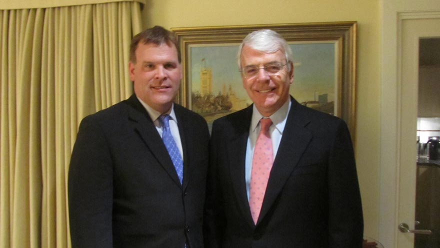 Foreign Affairs Minister John Baird Meets with Sir John Major