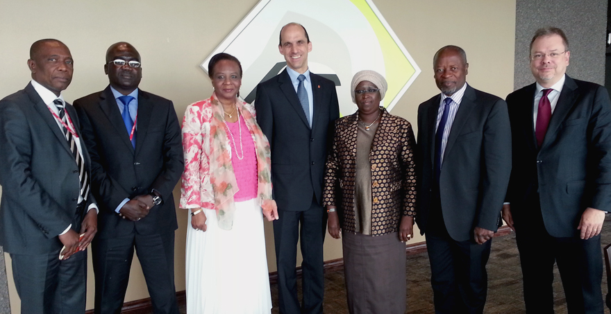Minister Blaney Welcomes Senegalese Delegation