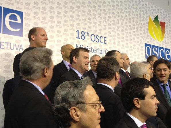 Minister Baird poses with other participants of the OSCE Ministerial Council Meeting