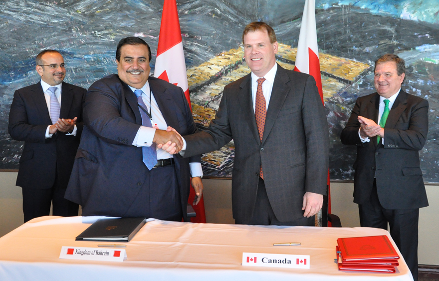 Baird and Crown Prince of Bahrain Deepen Canada-Bahrain Relations and Cooperation