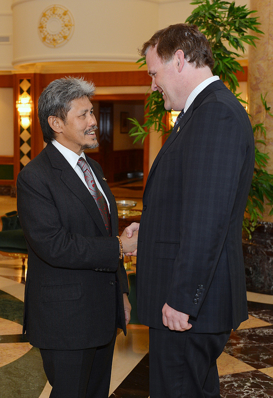 Prince Mohamed Bolkiah, Brunei's Minister of Foreign Affairs and Trade, Receives Minister Baird