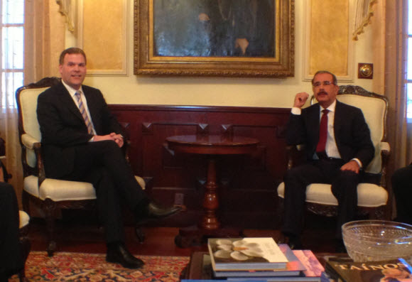 Baird Meets with Dominican President