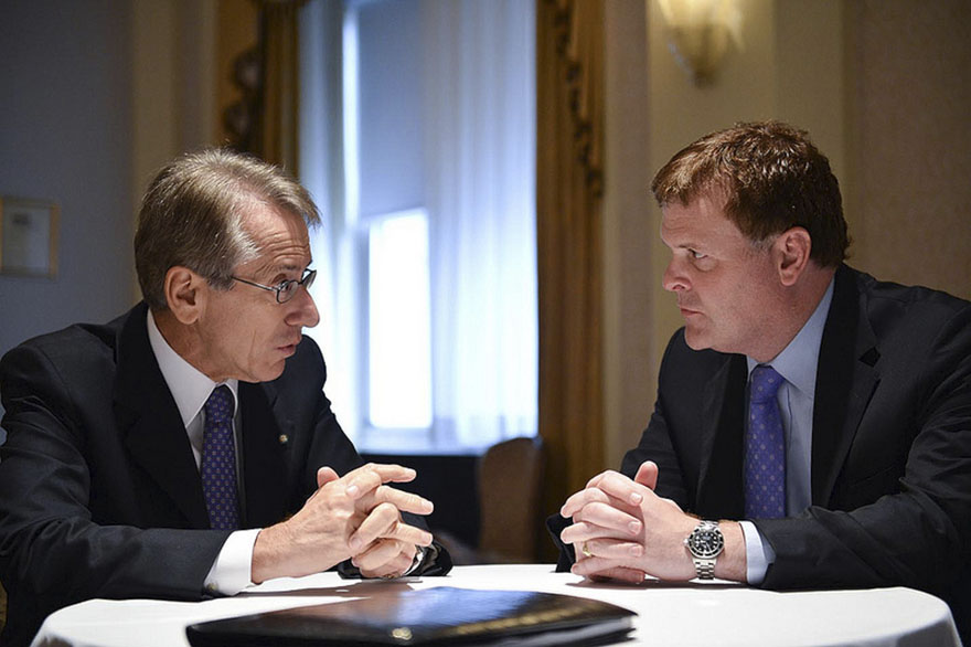 Minister Baird meets with Giulio Terzi di Sant'agata, Foreign Minister of Italy