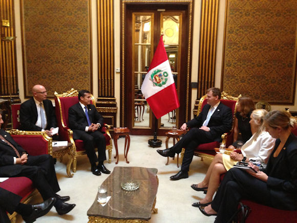 Baird Meets with Peruvian President