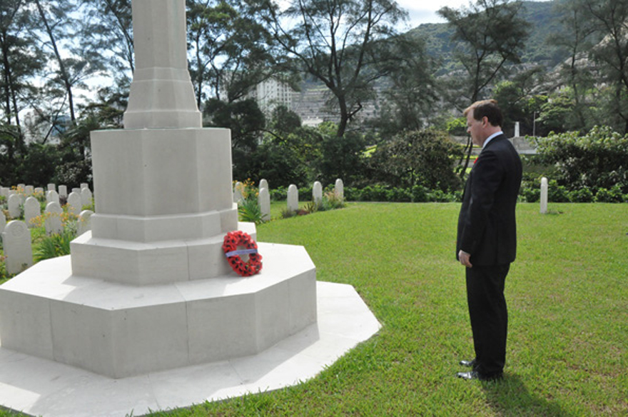 Baird Pays Respects to Fallen Canadian Soldiers Who Fought in Battle of Hong Kong