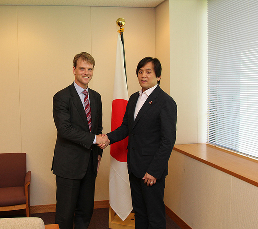 Chris Alexander, Parliamentary Secretary to the Minister of National Defence, meets with Parliamentary Vice Minister for Foreign Affairs Joe Nakano of Japan