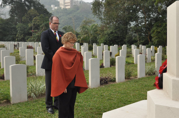 Minister Ablonczy Pays Her Respects to the Fallen at Sai Wan War Cemetery