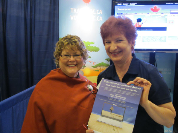 Minister Ablonczy Launches Travel.gc.ca Foursquare Account at Ottawa Travel and Vacation Show
