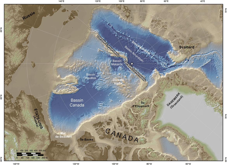Carte d'arctique
