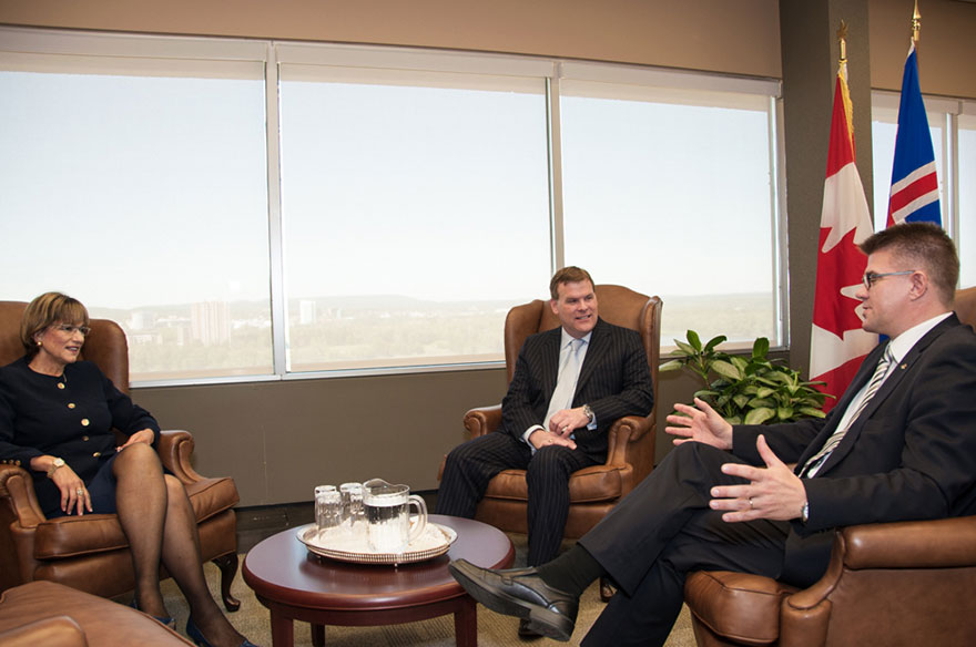 Baird and Minister of State Yelich Welcome Icelandic Minister for Foreign Affairs and External Trade