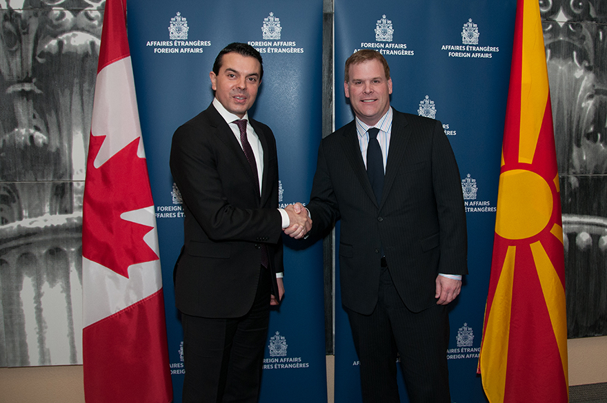 Baird Meets with Macedonia's Minister of Foreign Affairs