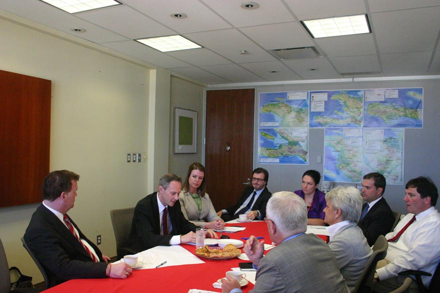 Baird and Parliamentary Delegation Updated on Situation in Haiti