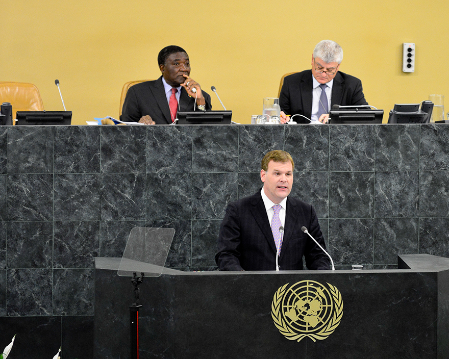 Baird Addresses United Nations General Assembly