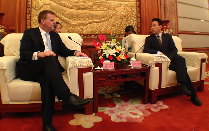 Baird Meets Sichuan Governor