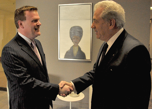 Baird Welcomes Greek Counterpart