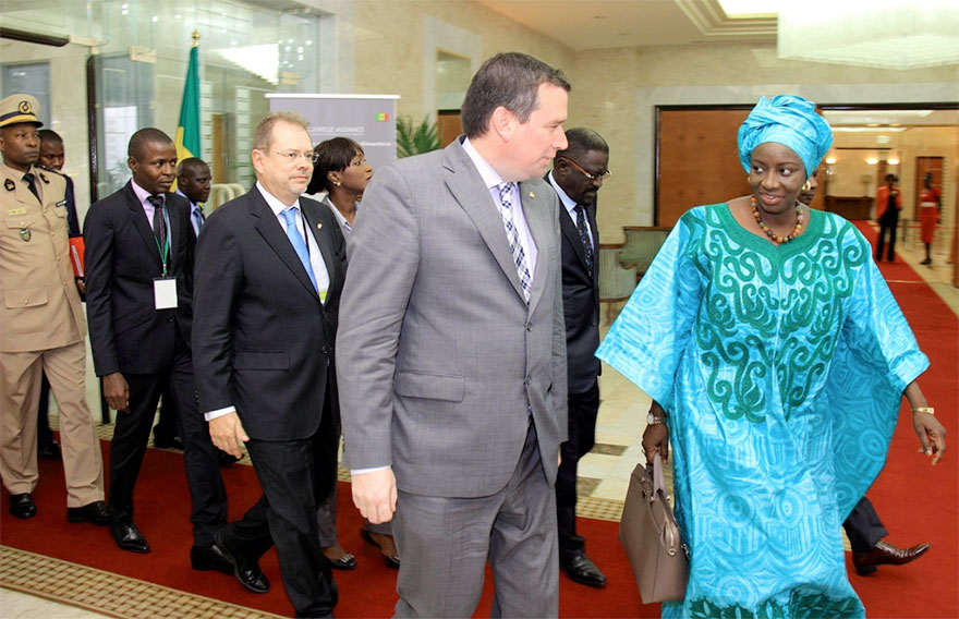 Christian Paradis and Her Excellency Aminata Touré