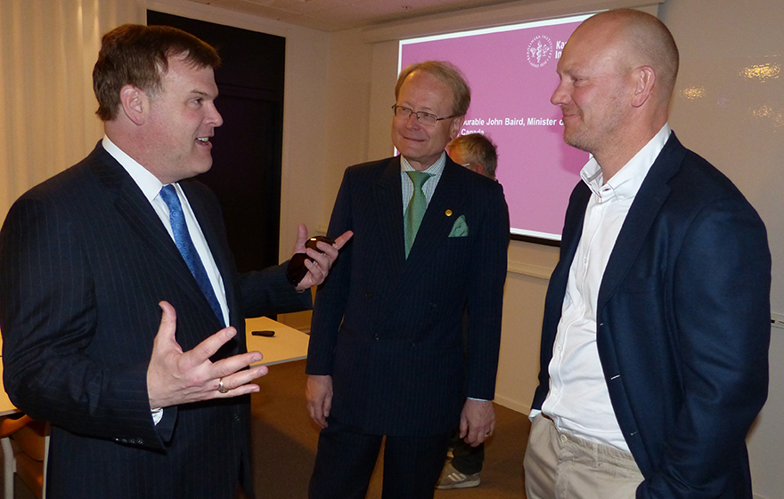 Baird Meets with Mats Sundin and Vice-Chancellor of Karolinska Institute
