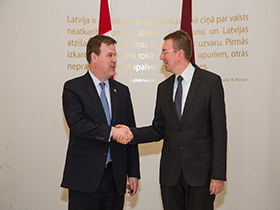 Baird Meets Foreign Minister of Latvia