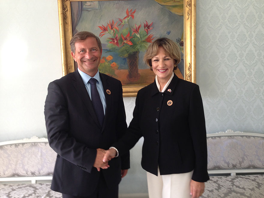 Minister of State Yelich Meets with Slovenian Minister of Foreign Affairs