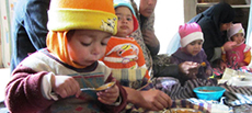 Nutrition and sanitation training in rural Afghanistan