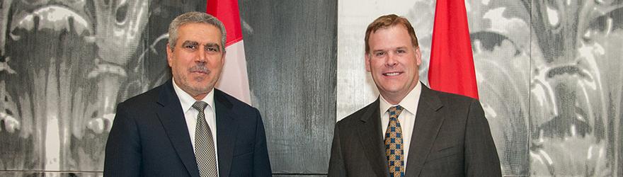 Le ministre Baird accueille le vice-président de l'Iraq