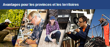 Avantages pour les provinces et les territoires