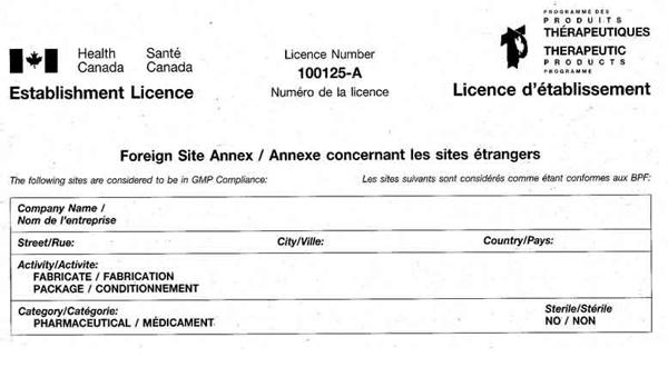 Establishment licence3