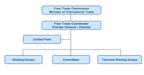 Graphic representation of the framework most FTAs establish