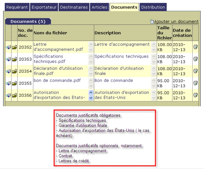 E.4.1. Description technique des marchandises ou des technologies