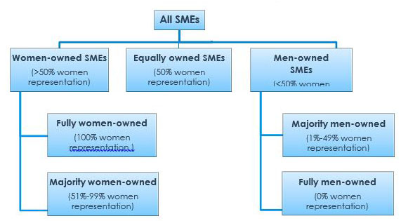Box 1 – Definitions of SMEs' Gender of Ownership Categories