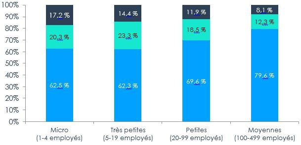 Figure 4 – Répartition des propriétaires de PME par genre selon la taille de l'entreprise, 2017