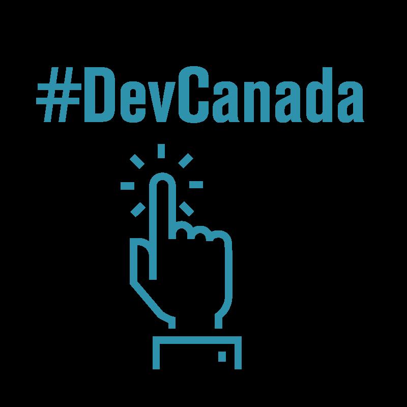 Twitter users used #DevCanada