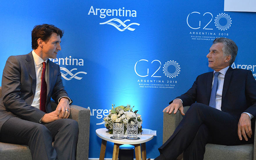 Meeting between Prime Minister Trudeau and President Macri