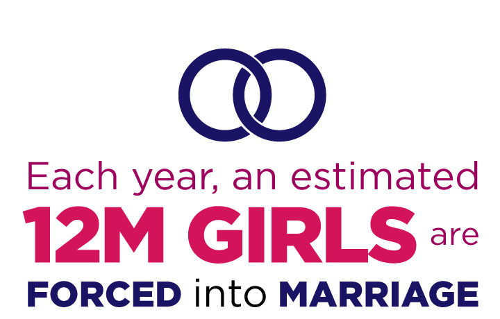 Each year, an estimated 15 million girls are forced into marriage.
