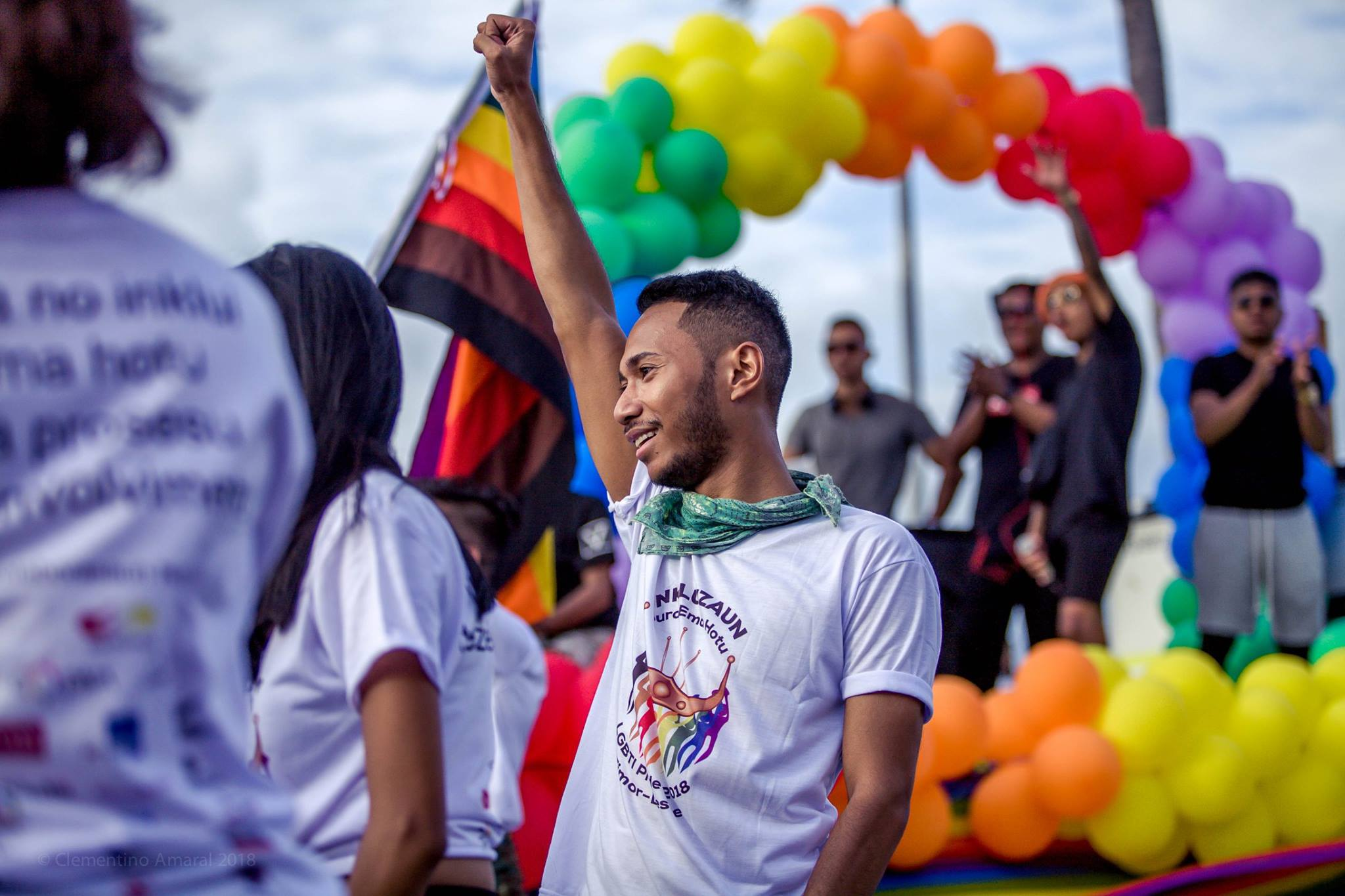 Community members march in Timor-Leste's 2018 Pride parade. Credit: Clementino Amaral
