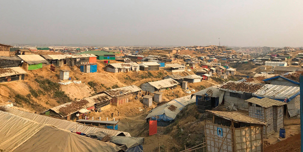 Photo captured on February 4, 2018 – The Rohingya refugee camp near Cox's Bazar, Bangladesh. Since August 25, 2018, almost 700,000 Rohingya have sought refuge there after fleeing the violence in Rakhine State, Myanmar.