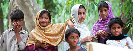 A group of children in Pakistan